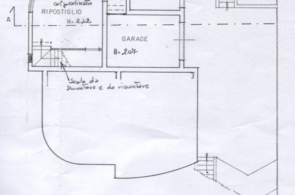 1) Pianta piano seminterrato